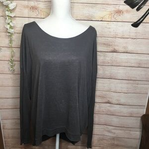 Eileen Fisher Gray Long Sleeves Top size L